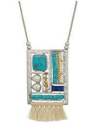 Lucky Brand - Stationed Pendant Necklace (two-tone) Necklace - Lyst