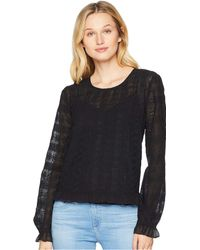 Lucky Brand - Long Sleeve Lace Top (lucky Black) Women's Blouse - Lyst