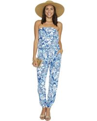 1f593333be1d Lilly Pulitzer - Ailsie Jumpsuit (indigo Keep On Trunkin) Women s Jumpsuit    Rompers One
