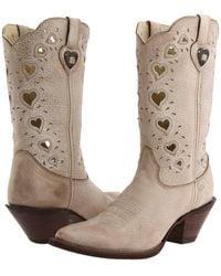 Durango - Crush Heart (light Taupe) Cowboy Boots - Lyst