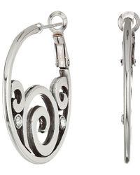 Brighton - London Groove Post Hoop Earrings - Lyst