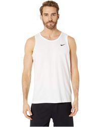 df7f6ed6954f8 Nike - Dry Tank Dri-fittm Cotton Solid (dark Grey Heather white)