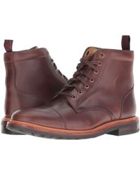 Florsheim - Foundry Cap Toe Lace-up Boot (saddle Tan Horween) Men's Lace-up Boots - Lyst