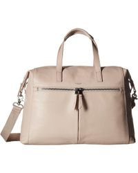 Knomo - Mayfair Luxe Audley Leather Handbag (concrete) Handbags - Lyst