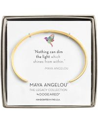 Dogeared - Maya Angelou: Nothing Can Dim The Light Cuff Bracelet (gold Dipped) Bracelet - Lyst