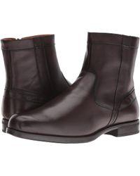 Florsheim - Midtown Plain Toe Zip Boot (brown Smooth) Men's Dress Zip Boots - Lyst