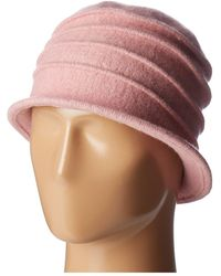 San Diego Hat Company - Cth8089 Soft Knit Cloche With Accordion Detail (grey) Knit Hats - Lyst