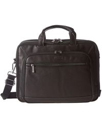 Kenneth Cole Reaction - A Golden Op-port-unity Colombian Leather Laptop Brief (black) Briefcase Bags - Lyst