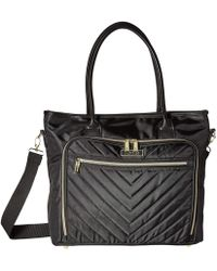 Kenneth Cole Reaction - Polyester Twill Chevron Tote (navy) Tote Handbags - Lyst