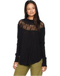 Free People - Spring Valley Top (black) Women's Clothing - Lyst