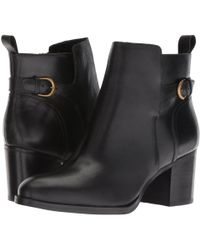 Lauren by Ralph Lauren - Ginelle (black Smooth Oil Leather) Women's Boots - Lyst