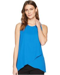 Karen Kane - Asymmetric Side-drape Top (yellow) Women's Clothing - Lyst