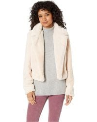 Blank NYC - Faux Fur Crop Jacket In Baby Spice (baby Spice) Women's Coat - Lyst