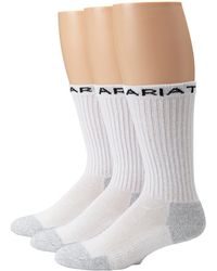 Ariat - Mid-calf Sport Sock 3-pack - Lyst