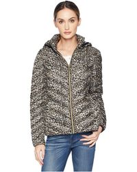 MICHAEL Michael Kors - Zip Front Short Packable M823185c (leopard) Women's Coat - Lyst