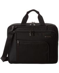 Briggs & Riley - Verb Adapt Expandable Brief (black) Briefcase Bags - Lyst