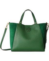 1aa5f96f863f Tory Burch - Mcgraw Mixed Materials Small Carryall (arugula) Handbags - Lyst