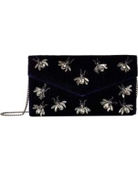 San Diego Hat Company - Bsb3547 Velvet Clutch With Multiple Bug Details With Hidden Chain Detail (navy) Clutch Handbags - Lyst