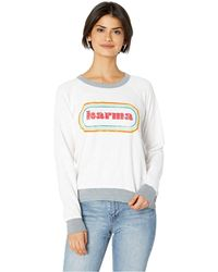 The Original Retro Brand - French Terry Karma Pullover (white/grey) Women's T Shirt - Lyst