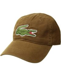 024864a2 Lacoste Big Croc Gabardine Cap (flamingo) Baseball Caps for Men - Lyst
