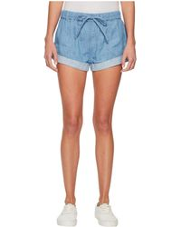 Volcom - Sunday Strut Shorts (light Blue) Women's Shorts - Lyst