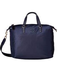 30e58ca408c Tory Burch - Tilda Nylon Slouchy Satchel (black) Satchel Handbags - Lyst