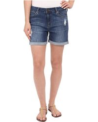 Liverpool Jeans Company - Vickie Shorts W/ Destruction In Montauk Mid Blue - Lyst