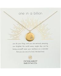 Dogeared - One In A Billion, Sparkle Star Disc Necklace (sterling Silver) Necklace - Lyst