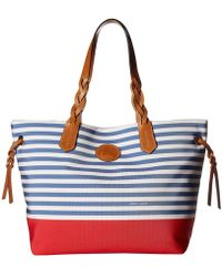 Dooney & Bourke - Sullivan Shopper With Solid Bottom (blue/red) Handbags - Lyst