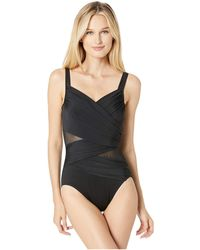 2b89bc7ac8a Miraclesuit - Network Madero One-piece (black) Women s Swimsuits One Piece  - Lyst
