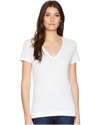 Adam Lippes - Short Sleeve V-neck Core Tee (black) Women's T Shirt - Lyst