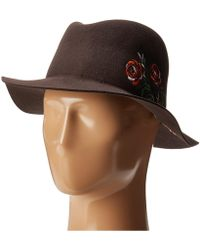 80cb22eeb22 San Diego Hat Company - Wfh8051 Floppy Round Crown With Floral Embroidery  (brown) Caps