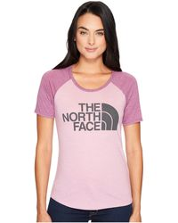 52b8fd39 The North Face - Short Sleeve Half Dome Baseball Tee (purple Agate  Heather/amaranth
