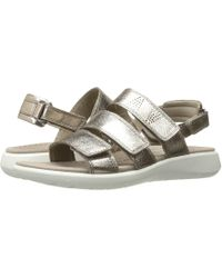 Ecco - Soft 5 3-strap Sandal (black Cow Leather/cow Nubuck) Women's Sandals - Lyst