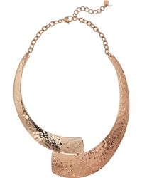 Robert Lee Morris - Shiny And Matte Gold Collar Necklace - Lyst