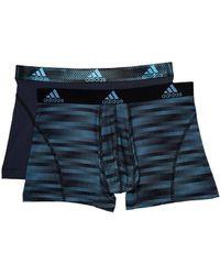 adidas - Sport Performance Climalite Graphic 2-pack Trunk (collegiate Light Blue Ratio Urban Sky Ratio) Men's Underwear - Lyst