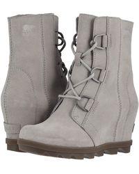 18e6f337ede7 Sorel - Joan Of Arctictm Wedge Ii (black) Women s Waterproof Boots - Lyst