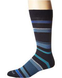 Etro - Striped Socks (blue) Men's Crew Cut Socks Shoes - Lyst