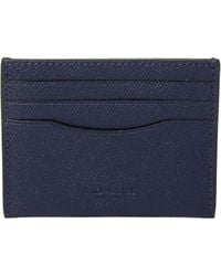 71f23377d4299 Lyst - COACH Coin Wallet In Signature Crossgrain Leather in Blue for Men