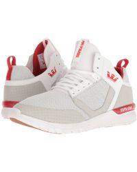 Supra - Method (white/risk Red/white) Men's Skate Shoes - Lyst
