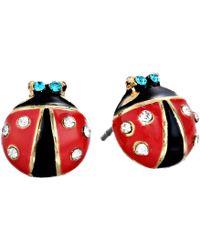Betsey Johnson - Ladybug Studs - Lyst