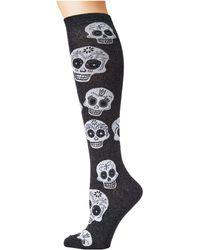 Socksmith - Big Muertos Skull Knee High - Lyst