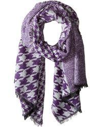 MICHAEL Michael Kors - Patchwork Wrap (dark Orchid/cream) Scarves - Lyst