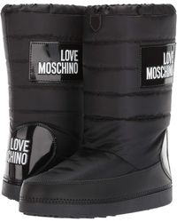 Love Moschino - Snow Boot (black/white Logo) Women's Boots - Lyst