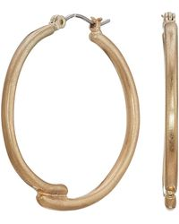 The Sak - Large Overlap Hoop Earrings (gold) Earring - Lyst