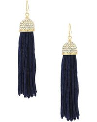 Lilly Pulitzer | Midnight Tassel Earrings | Lyst