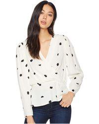 Astr - Mia Top (cream/black Dot) Women's Clothing - Lyst