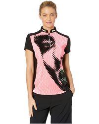 Jamie Sadock - Crunchy Veronica Print Short Sleeve Top (luminosity Pink) Women's Clothing - Lyst