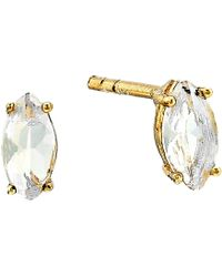 Shashi - Casey Stud Earrings (gold Amethyst) Earring - Lyst