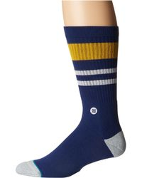 Stance - Try Outs (navy) Men's Crew Cut Socks Shoes - Lyst